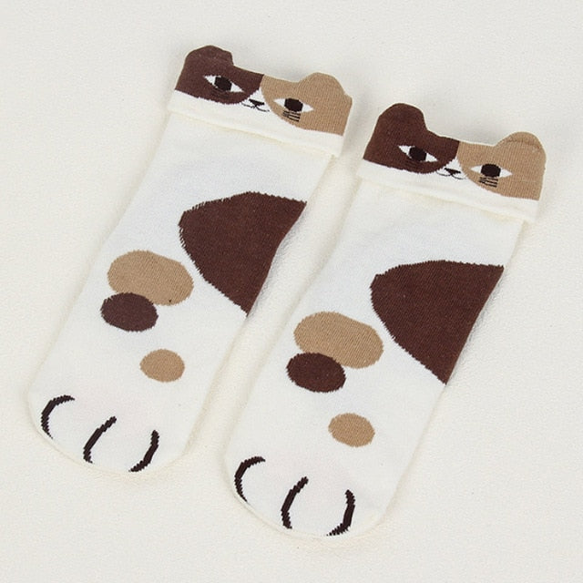 Cartoon Cat & Dog Socks - Kawaii Kitty, The cutest Cat themed Gifts for cat lovers