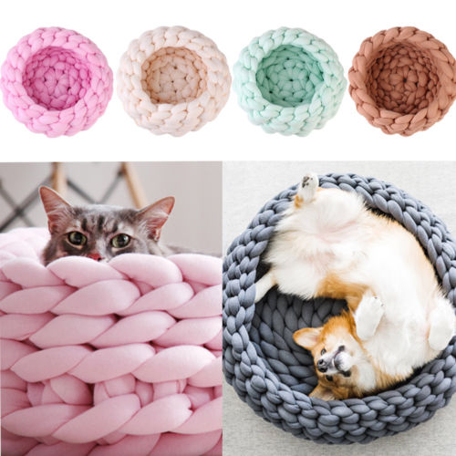 Cute Knitted Cat Bed - Kawaii Kitty, The cutest Cat themed Gifts for cat lovers