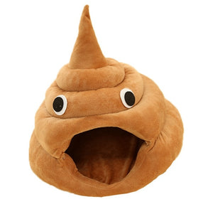 Funny Poop-shaped Cat Bed - Kawaii Kitty, The cutest Cat themed Gifts for cat lovers