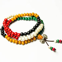 Multi Colour Wooden Bead Bracelet UK