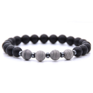Black & Grey Bead Bracelet