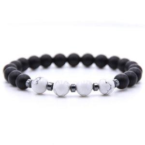 Black & White Bead Bracelet