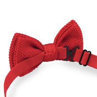 Red Knitted Bow Ties UK