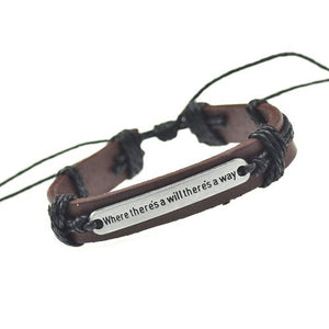 Where There's a Will Leather Bracelet