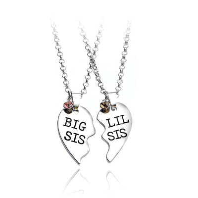 Silver Plated Double Sister Necklace