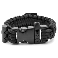 Black Compass Paracord Bracelet UK
