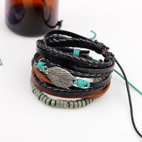 Triple Leaf Bead Bracelet