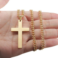 Gold Stainless Steel Cross Necklace UK