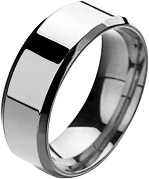 Stainless Steel Gloss Silver Ring