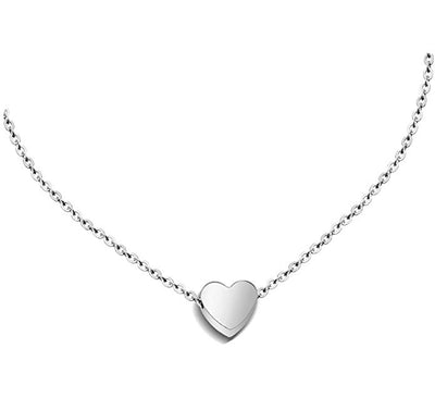 Stainless Steel Mini Heart Necklace