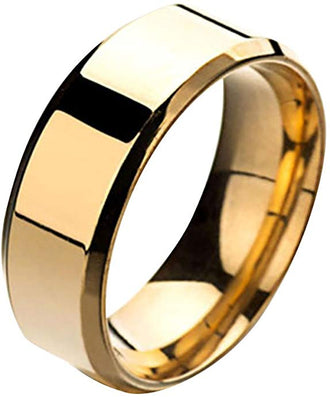 Stainless Steel Gloss Gold Ring