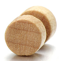 Light Brown Wood Stud Earring