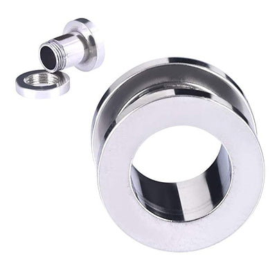 Silver Screw Fix Ear Tunnel Stretcher