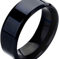 Stainless Steel Gloss Black Ring