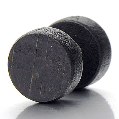 Black Wood Stud Earring