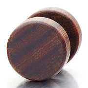 Walnut Wood Stud Earring