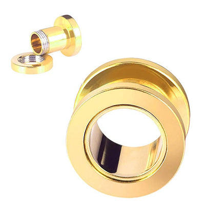 Gold Screw Fix Ear Tunnel