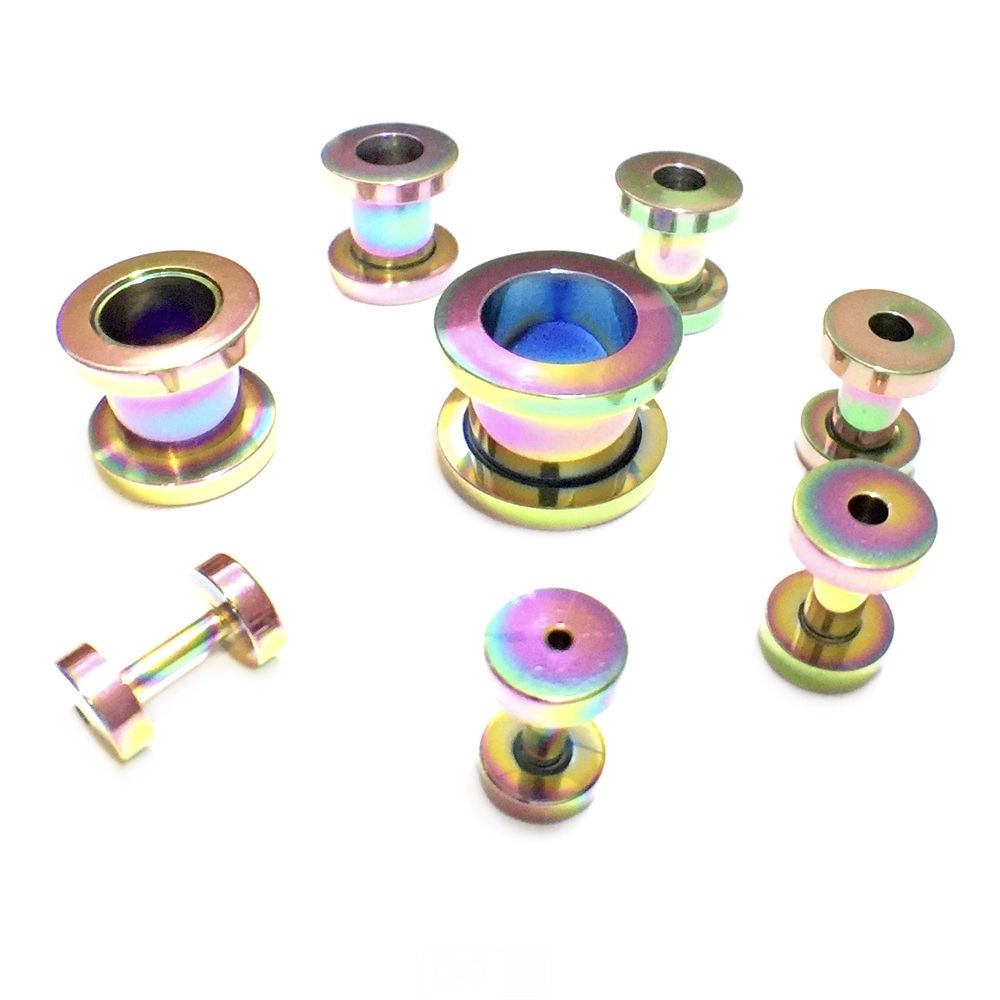 Rainbow Screw Fix Ear Tunnel Stretcher