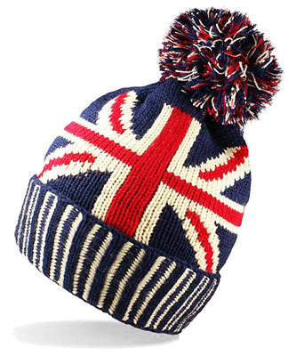 Union Jack Bobble Hat