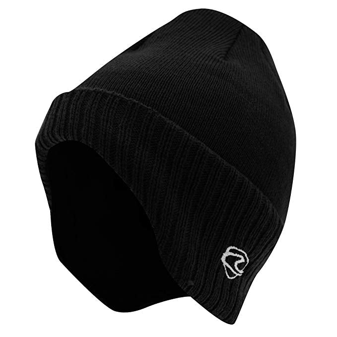 Black Winged Thermal Beanie