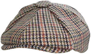 Tweed 8 Panel Wool Baker Boy Cap
