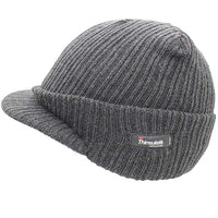 Charcoal Peaked Thermal Hat