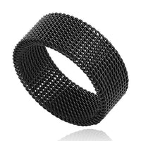 Black Steel Segment Ring Online