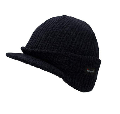 Black Peaked Thermal Hat