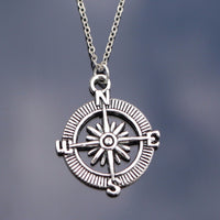 Silver Compass Necklace Online