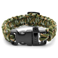 Camouflage Compass Paracord Bracelet Uk