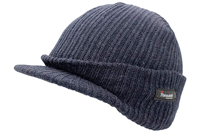 Navy Peaked Thermal Hat