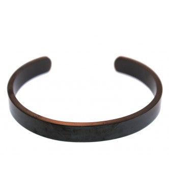 Black Stainless Steel Cuff Bracelet