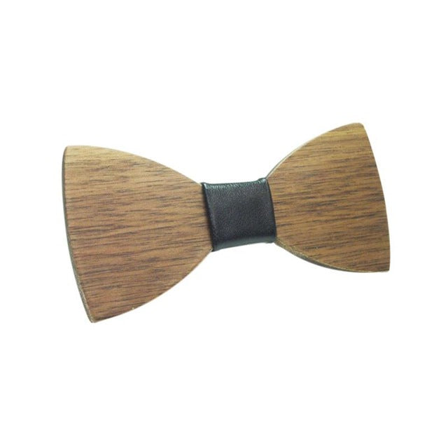 Walnut Brown Wooden Bow Ties