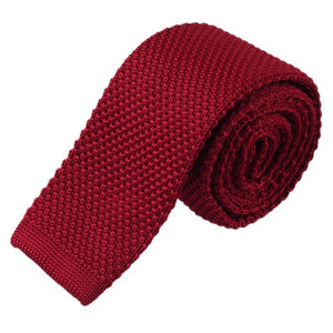 Burgundy Mens Knitted Ties