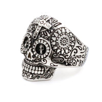Skeleton Skull Steel Ring