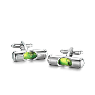 Spirit Level Mens Cufflinks
