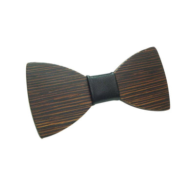 Brown Wooden Casual Bow Ties
