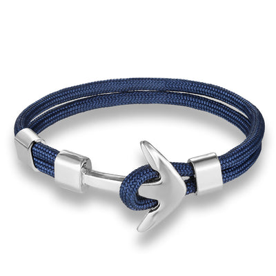 Blue & Silver Anchor Bracelet