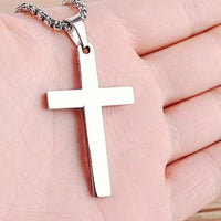 Silver Cross Necklace UK