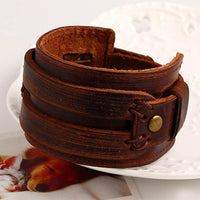 Brown leather bracelet UK