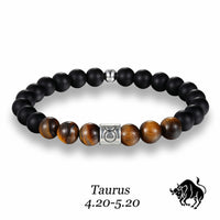 Tigers Eye Zodiac Bead Bracelet