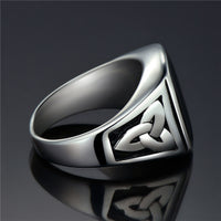 Stainless Steel Silver & Black Signet Ring Online