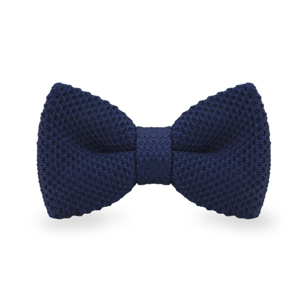 Navy Knitted Bow Ties