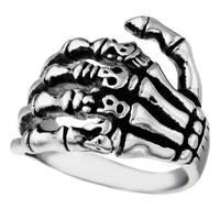 Stainless Steel Skeleton Ring