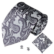 Grey Jacquard Mens Tie Accessories