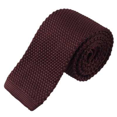 Dark Brown Mens Knitted Ties