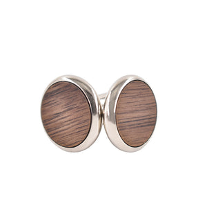 Medium Wood Cufflinks