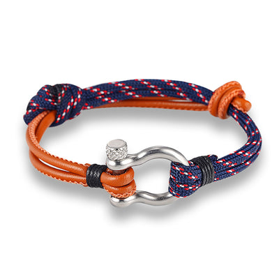 Rope & Leather Bracelet