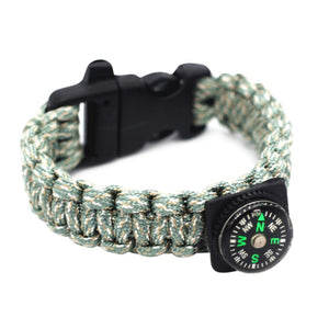 Grey Compass Paracord Bracelet