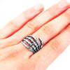 Stainless Steel Skeleton Ring UK